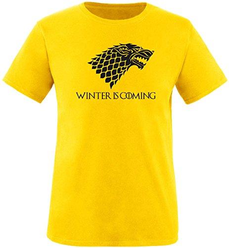 EZYshirt® Game of Thrones | Winter is coming | Schattenwolf Herren Rundhals T-Shirt
