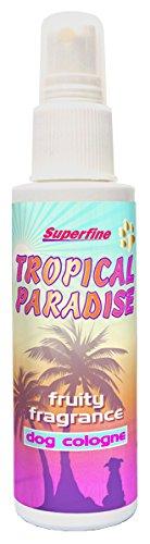 Superfine Tropisches Paradies Hund Köln 100ml. Duft Duft wie echtes Parfüm für Haustiere. (Hund Zubehör Pflege)