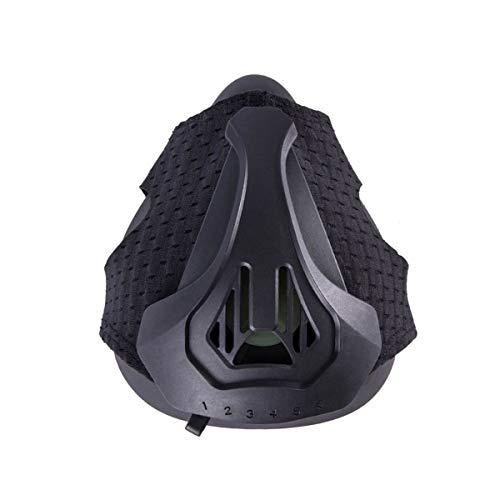 Quner Trainingsmaske, Fitness Atemmaske Erwachsene Ausbildung Maske Höhentraining Trainings Maske Sport Cardio Ausdauer Laufen Training Mask (Schwarz)