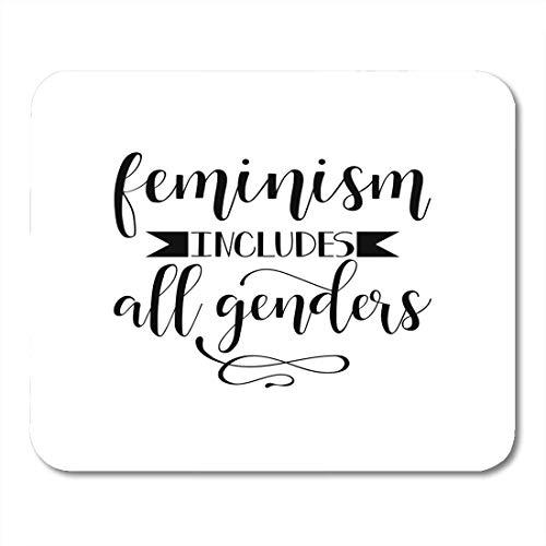 Mouse Pads Brush Feminism Incluye todos los géneros Letras de caligrafía Cita feminista Diseño gráfico para la campaña Mouse Pad para computadoras portátiles, computadoras de escritorio, alfombrillas