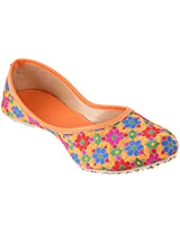 Red Choice Collection Ethnic Footwear/Jutties for Women (RCC601 ; Multicolor)
