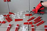 KABOUFIX Fliesen Nivelliersystem Komplettset 2.000 Laschen 500 Keile Metallzange für Bodenfliesen + GRATIS Gummihammer, Baueimer, Fliesenschwamm, Fugengummi, Ausfugbrett und Hydro-Fliesenwaschbrett