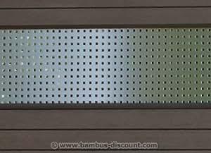 dekorprofil f r wpc zaun metall hoch 180x30cm. Black Bedroom Furniture Sets. Home Design Ideas