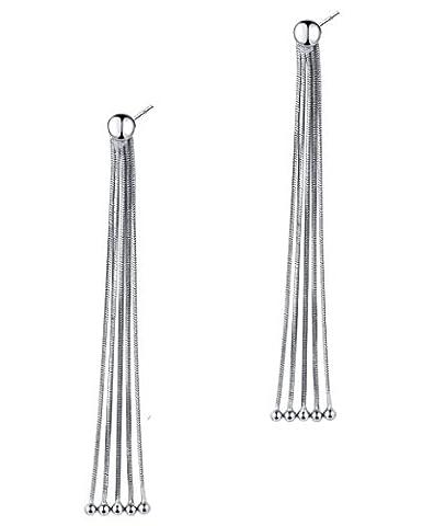 BABEYOND Damen Ohrringe Schwarz überzogene Messing Troddel Dangling Tropfen Muster Ohrringe Art Deco Damen Modeschmuck Accessoires 4.72