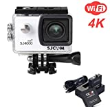 ZIHENGUO SJ4000 WiFi Action-Kamera 2,0-Zoll-LCD-Bildschirm 1080P HD Tauchen 30M Wasserdichte Mini-Camcorder-Sport-DV-Antenne-Camcorder-Fahrrecorder,White