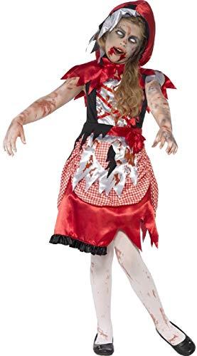 Fancy Me Mädchen Toter Zombie Miss Kapuze blutig unheimlich gruselig Halloween Kostüm 4-9 Jahre - 10-12 Years (Miss Zombie Halloween)
