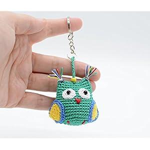 Eule Schlüsselanhänger, Handtasche Zubehör, Grünes Miniatur geschenk