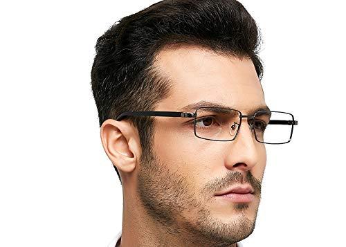 OCCI CHIARI Optische Gläser Herren optische brille Brille Metallrahmen vintage brille mit flexiblen Feder Scharnieren und klaren Linsen Herren