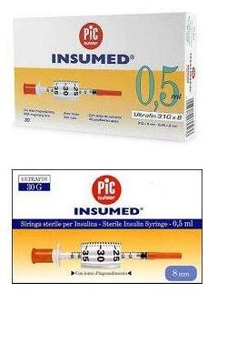 Pic Insumed From Insulin Syringe 0.5ml 30 Pieces