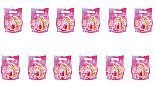 Barbie 2512; Pack 12 Beutel für Süßigkeiten Spielzeug; Ideal für Partys und Geburtstage