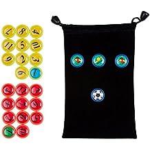 AGPTEK Fichas imantadas para tablero táctico o Carpeta táctica de fútbol (26 Piezas)