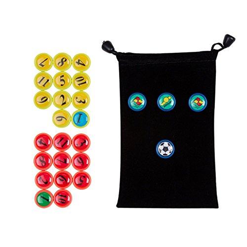 Fußballspiel Magnet 26 Stück für Fußball Taktikboards, Kühlschrank, von AGPTEK