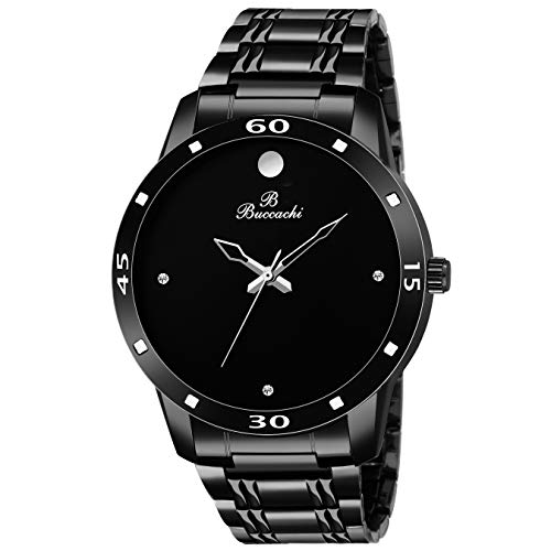 Buccachi Analogue Black Round Dial Watch for Men's (B-G5043-BK-BC)
