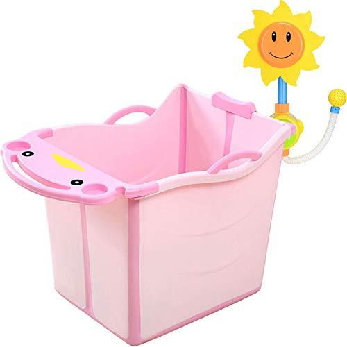 JINRONG_xzp Faltbare Babybadewanne-tragbare Säuglingsmultifunktions-abnehmbare Badewanne/leichte und einfache Lagerung Duschbecken Sitzbadewannen