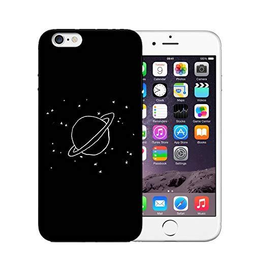 XUHAHASJK Handyhülle/Phone Case Weiche Silikon-Rückseitige Abdeckung Für iPhone X 6 6 S 7 8 Plus 5 S Se Einfach Wishing Flasche Planet Phone Cases