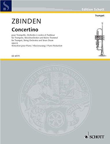 SCHOTT ZBINDEN J.F. - CONCERTINO OP.6 - ...