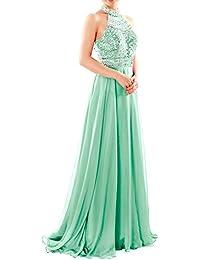 MACloth Women Mermaid Lace Long Formal Prom Evening Gown Wedding Party Dress (EU56, Morado)