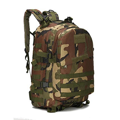 ZKDY Outdoor Sports Waterproof Survival Shoulder Camouflage Tactical Backpack,Tarnung des Dschungels (Damen Fanggeräte)