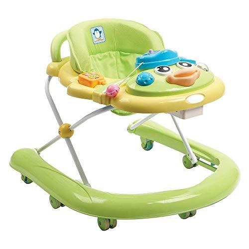 Baby Trend Walker 2 en 1 Baby Walker Facile à Replier Hauteur du Siège Réglable Jouets Et Activités Amusants,Green