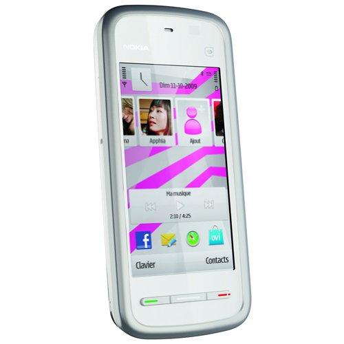 Nokia 5230 Smartphone (8,1 cm (3,2 Zoll) Display, Touchscreen, 2 Megapixel Kamera) weiß/silber