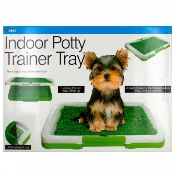 St@llion 47,6 x 6,3 x 34,9 cm Indoor Potty Trainer Tray, Puppy WC urinario Trainer Erba Mat