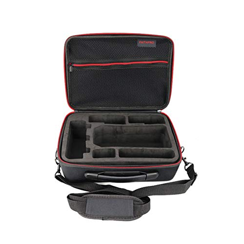 Bolsa de almacenamiento de funda rígida compacta Estuche portátil Bolsa de hombro Mochila Bolso portátil Maleta para DJI Mavic Pro RC Drone - Negro