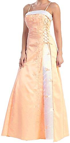 Ballkleid A-Linie Abendkleid Lang Festkleid Brautjungfernkleid Brautmutterkleid Hochzeitsgast Satin...