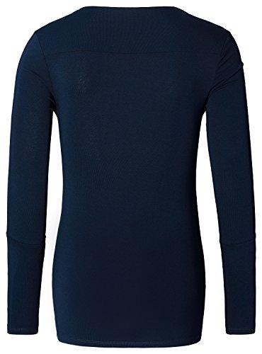 Noppies Top Nurs Ls Hada - T-shirt de Maternité - Femme Blau (Dark Blue C165)