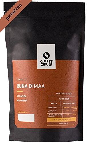 Coffee Circle | Premium Kaffee Buna Dimaa | 350g gemahlen | Kräftiger Bio Filterkaffee mit wenig...