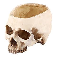 Idea Regalo - Cranio Teschio fioriera Giardino /Modello di Scheletro in Resina Sintetica, Multifunzionale Scatola Decorazione della Tavola/ Bar/ Pub/ Casa Decorazione/ Decorazione di Halloween