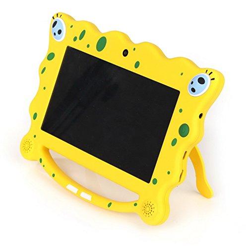 Ainol 7C08-  tablet para niños de 7 pulgadas , Tablet infantil de Android 7.1 RK3126C, regalo para niños,  1GB+8GB con wifi , doble cámara, tablet de Bob Esponja,  juegos educativos) Amarillo