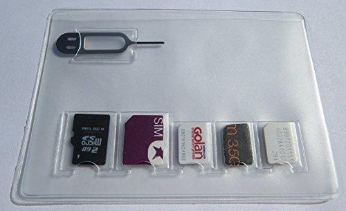 Claro PVC tarjeta SIM Holder almacenamiento Caso para 2Micro & 3Nano tamaño...