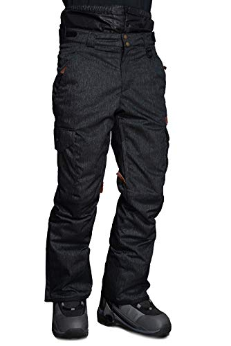 Stayer isolierte Thermo-Hose Herren Skianzug-Hose Snowboard-Hose Freeride Winter-Sport Jeans-Look schwarz (M)