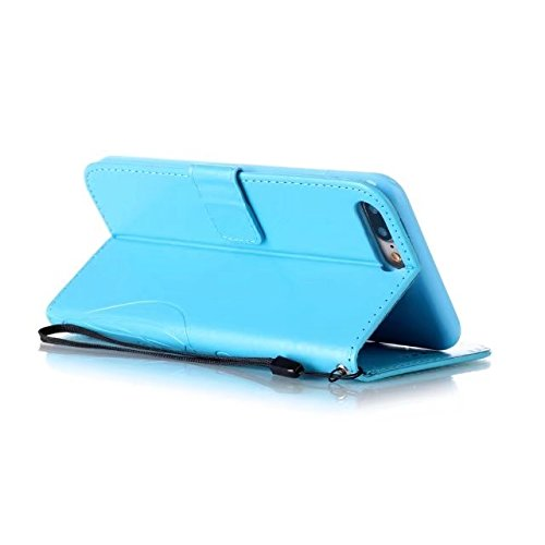 iPhone 7 Plus Hülle, iPhone 8 Plus Hülle, Valenth PU Leder Brieftasche Hülle Cover [Stand Feature] [ID Card Slots] Flip Cover für iPhone 8 Plus / iPhone 7 Plus 7#