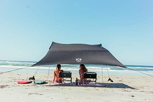 Neso tents tenda grande della spiaggia, alta 2,1 metri, 2,8 m (9 piedi) x 2,8 m (9 piedi), angoli rinforzati e tasca più fresca (nero)