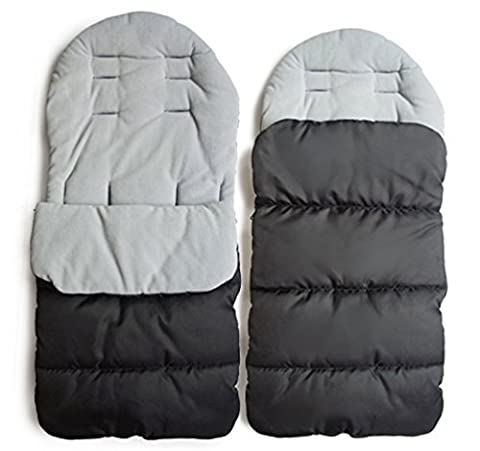 Convient pour l'hiver chaude footmuff transporteur bébé bébé bébé sac de couchage footmuff confortable (gris)
