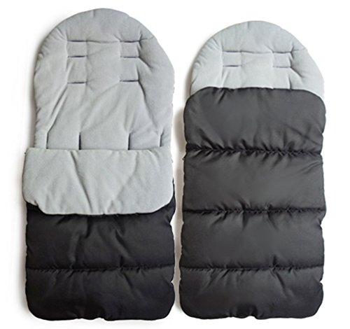 Conveniente para el footmuff caliente del invierno carro de bebé bebé niño dormir saco cómodo footmuff (gris)
