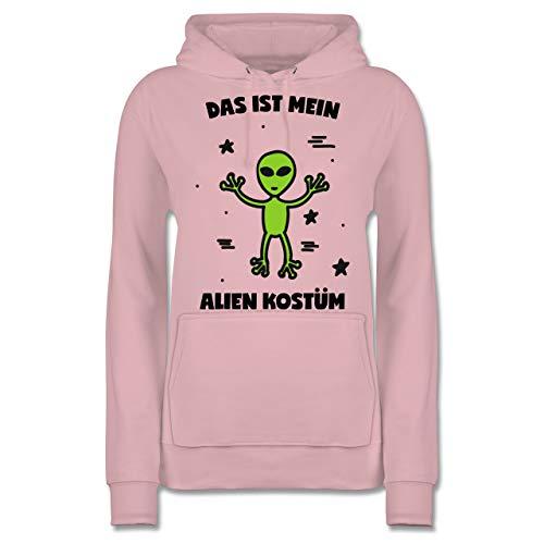 Karneval & Fasching - Das ist Mein Alien Kostüm - M - Hellrosa - JH001F - Damen Hoodie
