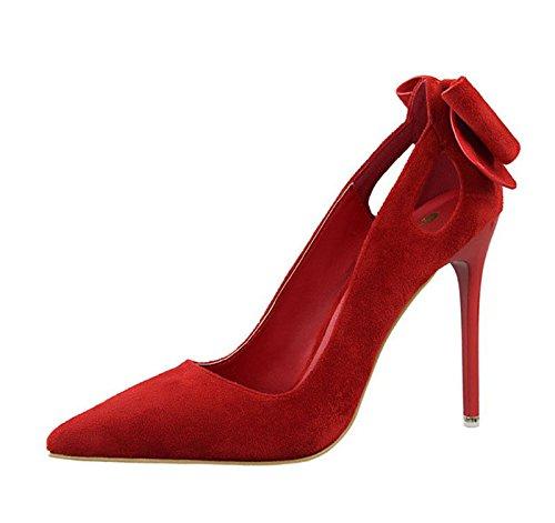 XINJING-S Bowknot Frauen High Heels Schuhe Party Hochzeit Pumpen Kleidung Schuhe Lady Heels GWS009 6.