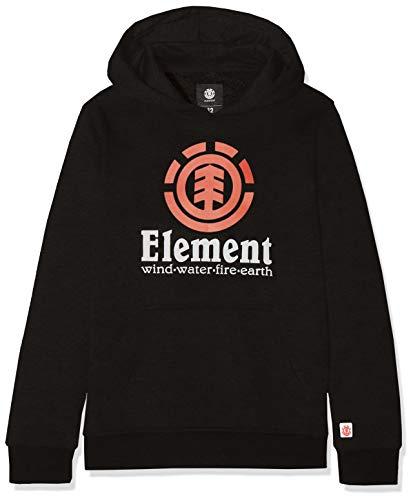 Element Jungen Vertical Hood Boy Kapuzensweatshirt, Flint Black, 10 Element-fleece-sweatshirt