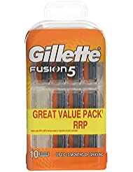 Gillette Fusion Razor Blades, 10 Refills, Packaging May Vary