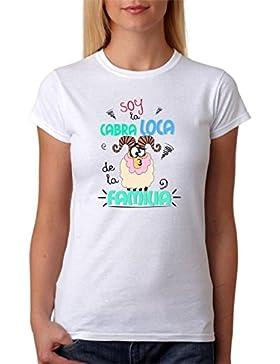 Camiseta Divertida. Soy la Cabra Loca de la Familia. Camisetas locas para Amigas locas