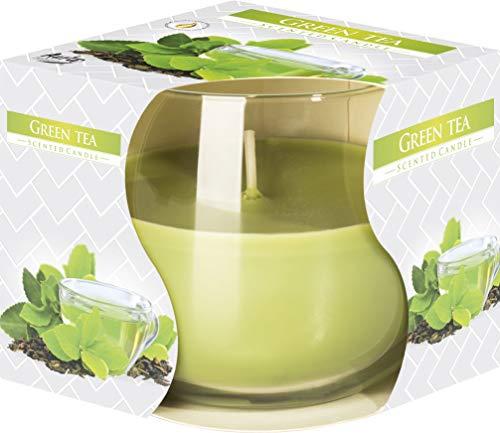 DUFTKERZEN IM GLAS, Duft:Grüner Tee - Duft Grün