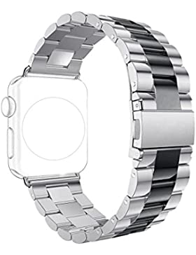 Correa para Apple Watch Series 2 / 1, Rosa Schleife iWatch WristBand Reemplazo de Banda Smart Watch Band de Reloj...