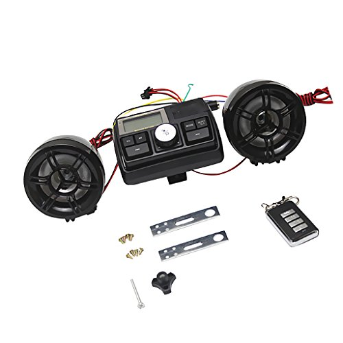 MagiDeal Kit de altavoces estéreo Montaje de Manillar de Motocicleta Reproductor de...