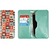 Emartbuy PU Leather Magnetic Slim Wallet Case Cover Sleeve for Xiaomi Mi 9 (Size LM4_Multi Retro)