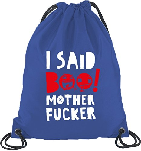 Shirtstreet24, Halloween - I Said Boo, Turnbeutel Rucksack Sport Beutel Royal Blau