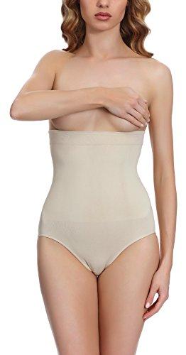 Merry Style Body Modellante Slip vita alta per Donna 06 53 Beige