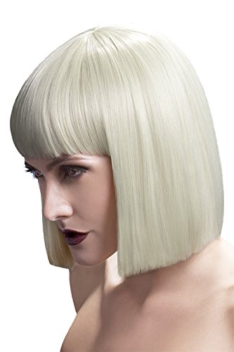 Fever Damen Kurzer Blunt Haarschnitt Perücke mit Pony, 30 cm, Lola Perücke, Blond, One Size, 42490 (Blunt Kostüme)