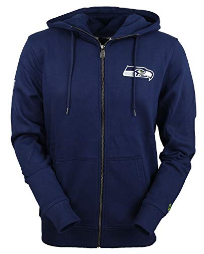 New Era Herren Zip Hoodies NFL Team Seattle Seahawks blau M